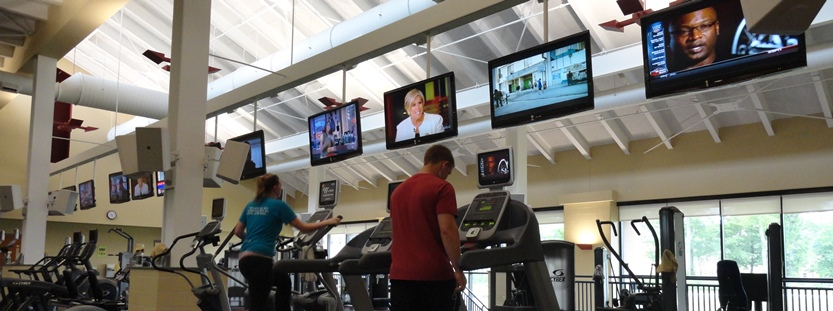 Cardio and weight machines in the fitness center